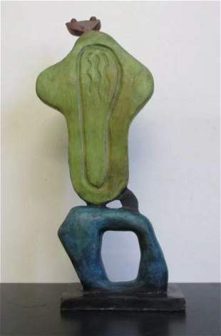 Bronze Sculpture Personnage Green by Joan Miro