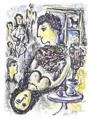 """Marc Chagall Signed & Hand-Numbered Ltd Ed """"Untitled"""""""
