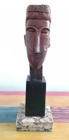 Bronze Sculpture Bronze Sculpture Face II By Amedeo