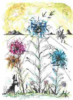 "Salvador Dali Signed/Hand-Numbrd Ltd Ed ""Flower"