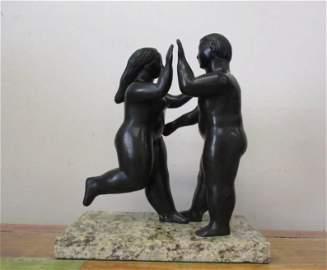Bronze Sculpture Friends of Fernando Botero