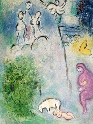"""Marc Chagall - Daphnis is Found By Lamon """"After"""""""