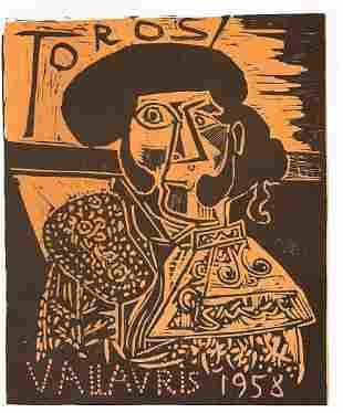 """Picasso -Toros En Vallauris Les Affiches """"After"""""""