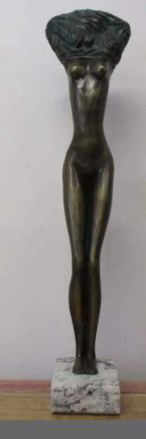 Bronze Sculpture Femme By Leo Mol