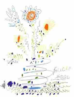 """Picasso """"Le Bouquet De Fleurs 2 """"After"""""""