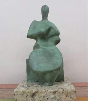 Bronze Sculpture Woman Sitting Ii Henry Moore