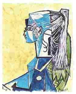"Pablo Picasso ""After"" ""Sylvette David "" Litho"