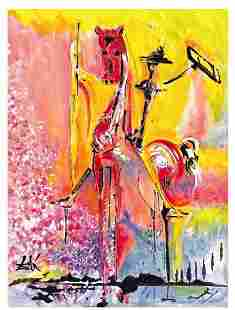 """Salvador Dali """"After"""" """"Knight of Middle Ages"""