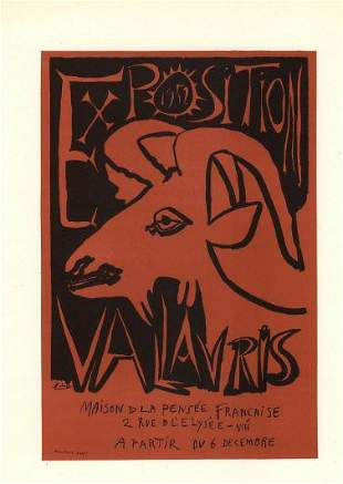 Picasso 1952 Exposition Vallauris