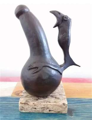 Male Bronze Sculpture By Francisco Toledo