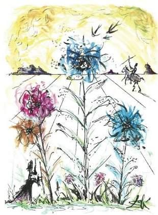 """Salvador Dali Signed/Hand-Numbrd Ltd Ed """"Flower"""