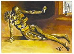 "Salvador Dali Signed/Hand-Numbr Ltd Ed""Anthropomorphic"