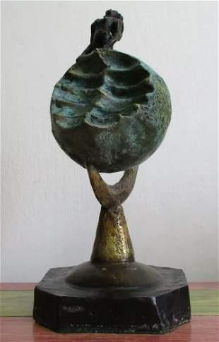 Bronze Sculpture Land of Remedies Varo