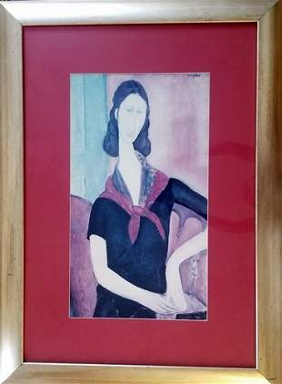 Amedeo Modigliani - Young Woman With Scarf