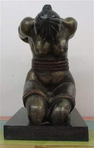 Bronze Sculpture Woman By David Alfaro Siqueiros