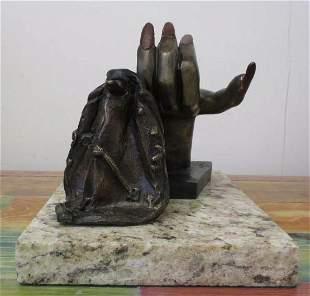 Bronze Sculpture Time By Salvador Dali