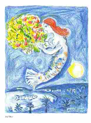 """Marc Chagall - """"La Baie des Angels """"After"""""""