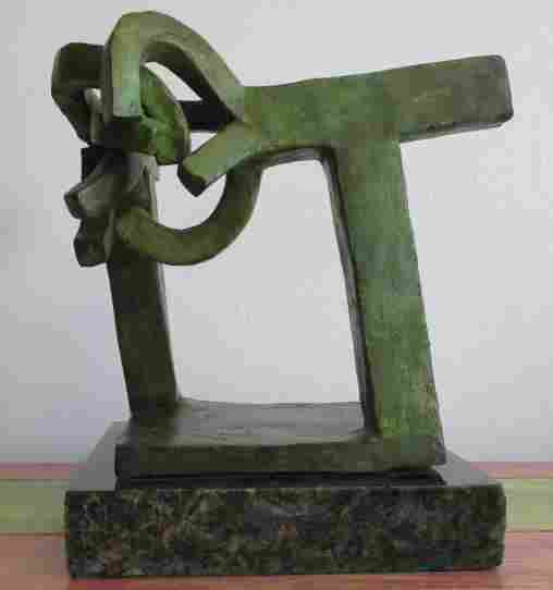 Bronze Sculpture Object by Eduardo Chillida