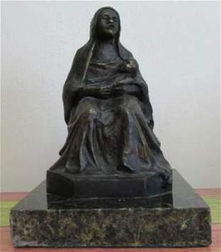 Bronze Sculpture Mother By Antoine Bourdelle