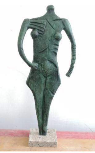 Bronze Sculpture Green Man Ii By Rufino Tamayo