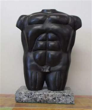 Bronze Homme Sculpture by Fernando Botero