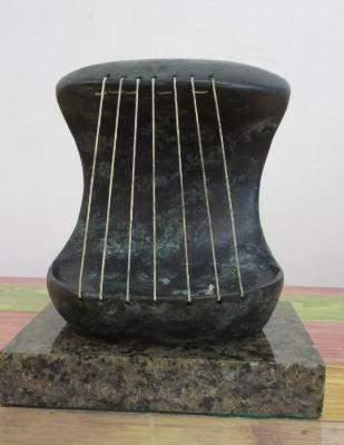Bronze Sculpture Head Of Henry Moore