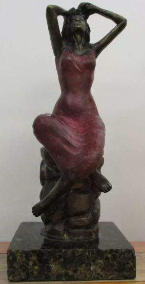 Bronze Sculpture Femme Victor Villarreal