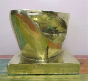 Beautiful Gold Bronze Sculpture '' Femme '' By D.