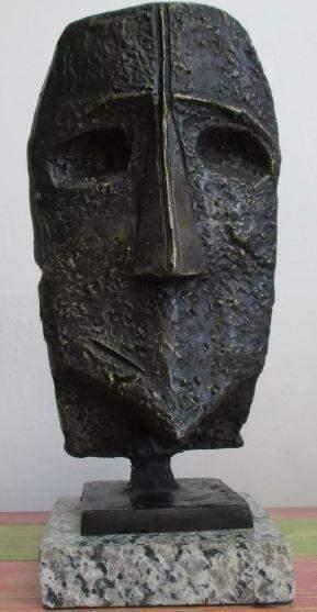 Bronze Sculpture Face Max Ernst