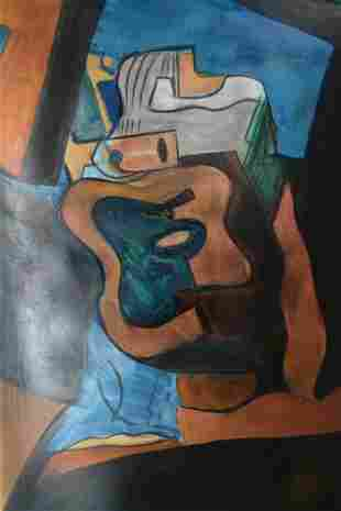 Georges Braque - Violin with a Guitar