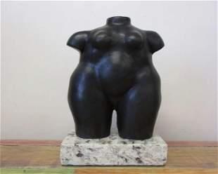 Bronze Female Sculpture By Fernando Botero