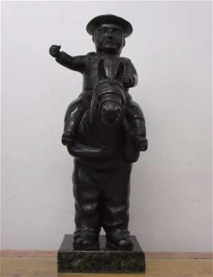 Bronze Sculpture Policeman II Fernando Botero