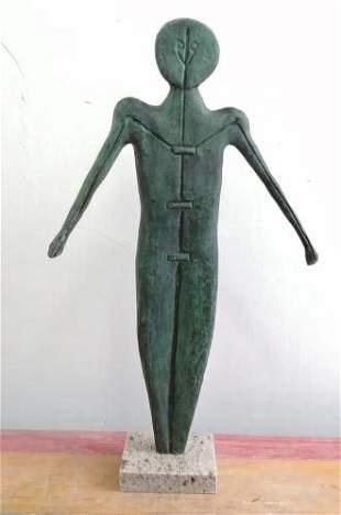 Bronze Sculpture Man By Rufino Tamayo