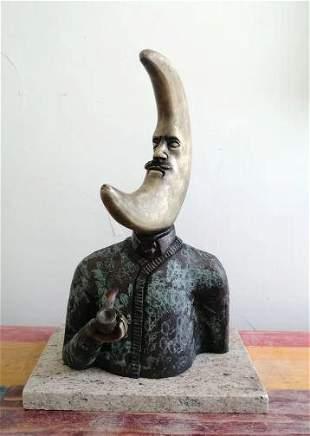 Gentlemen Bronze Sculpture By Sergio Bustamante