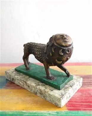 Bronze Sculpture Leon II By Sergio Bustamante