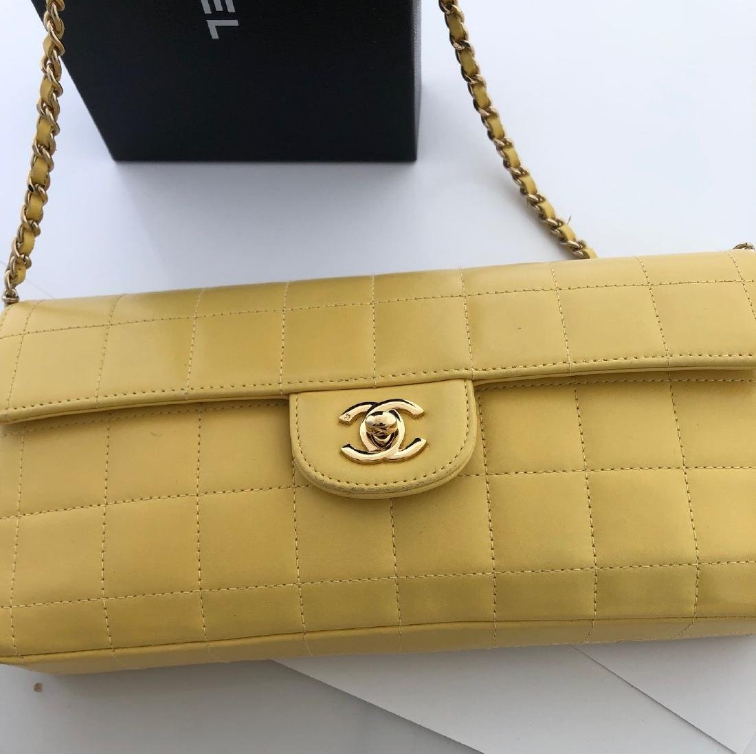 Chanel East West Quilted Chocolate Bar Flap