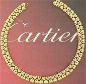 Very Rare Cartier 18k Yellow Gold Collar Necklace