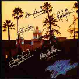 Autographed The Eagles Hotel California Vinyl Record