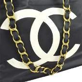 Vintage CHANEL Jumbo XL CC Logos Chain Tote Bag