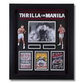 Thrilla In Manila Ali & Frazier Signed Showcase GFA