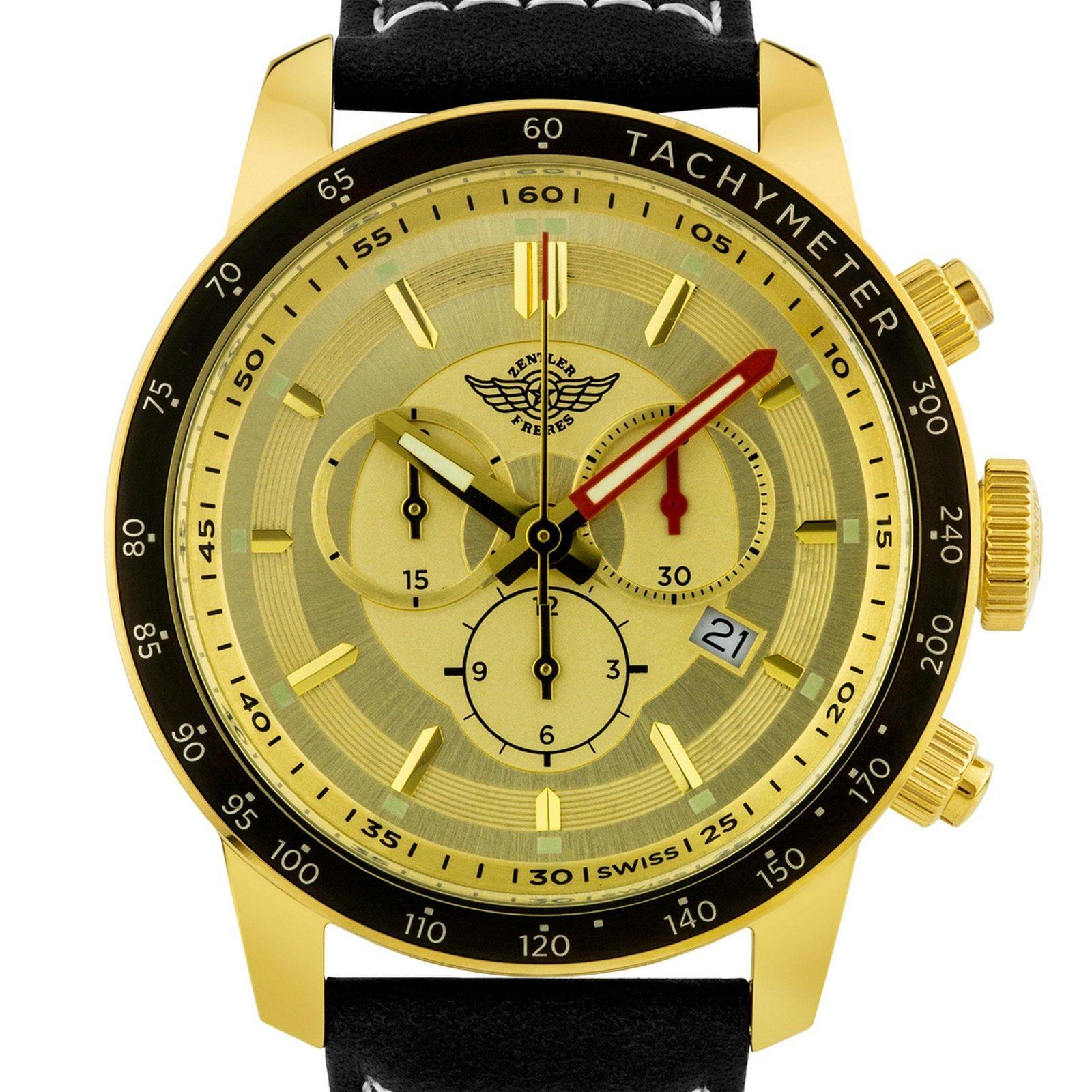 Zentler Freres Swiss Chronograph Oracle Mens Watch