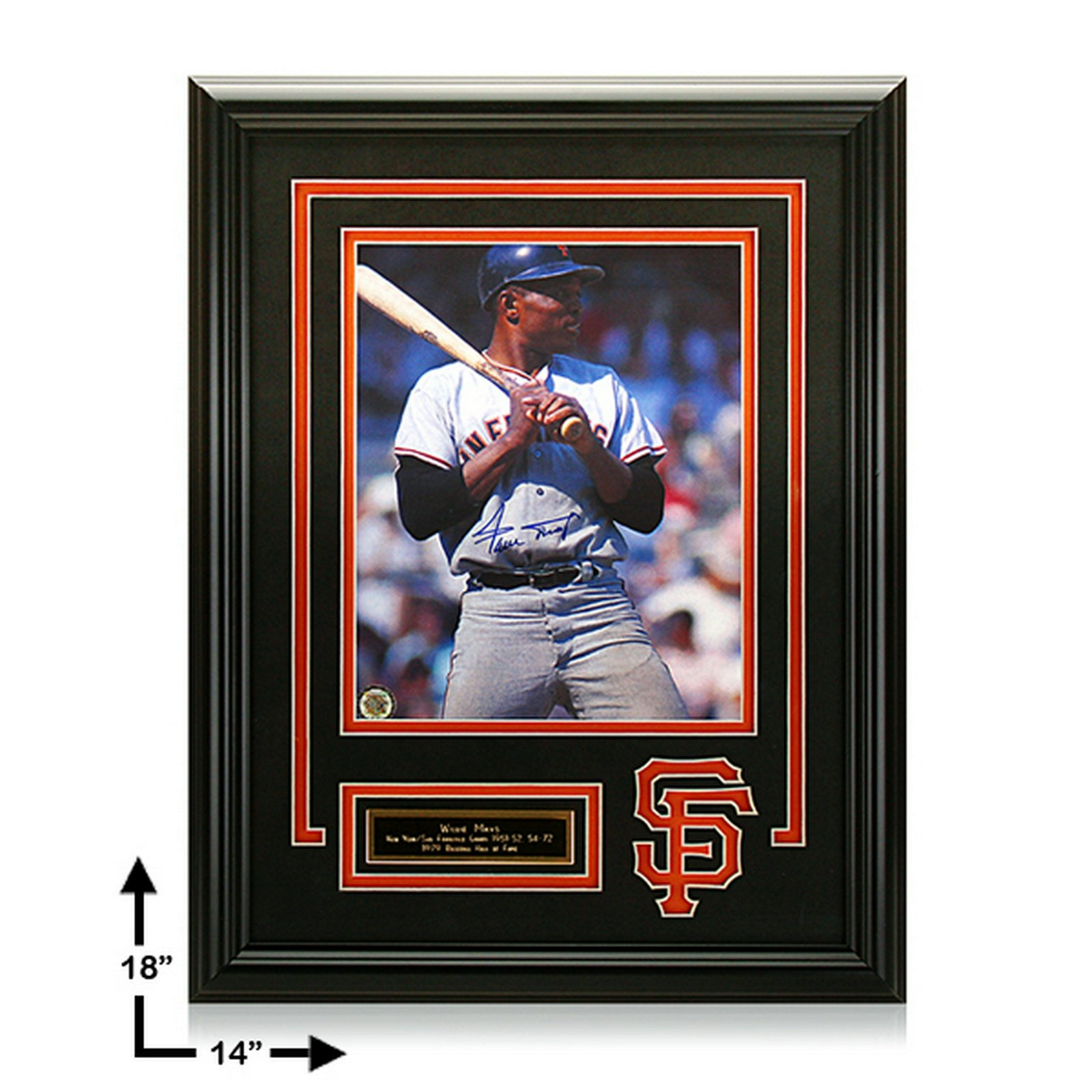Willie Mays San Francisco Giants 12x16 Signed GFA
