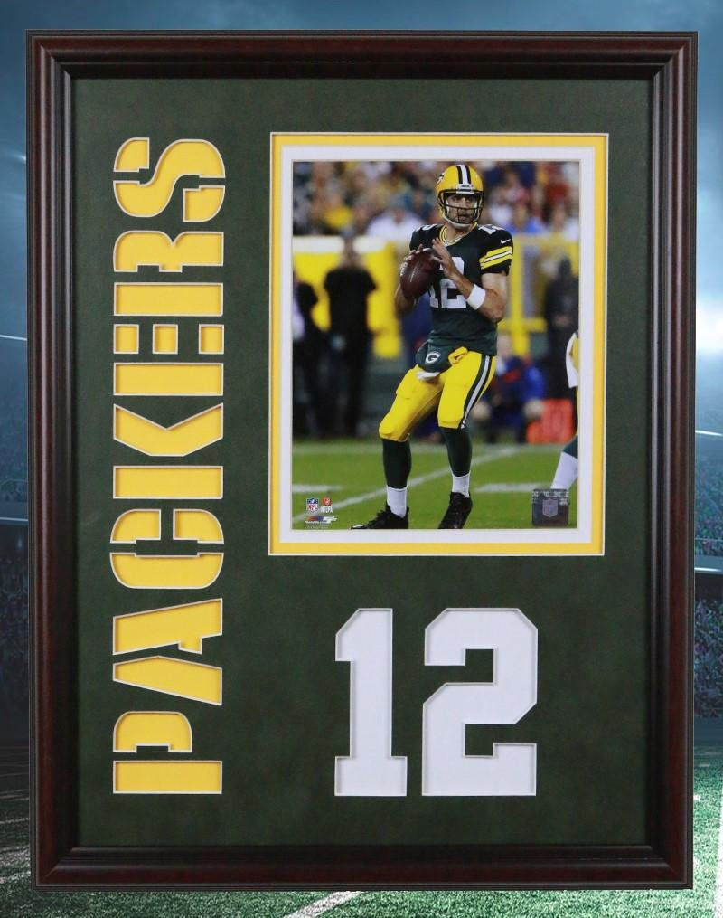 Aaron Rodgers Green Bay Packers 20x16 unsigned