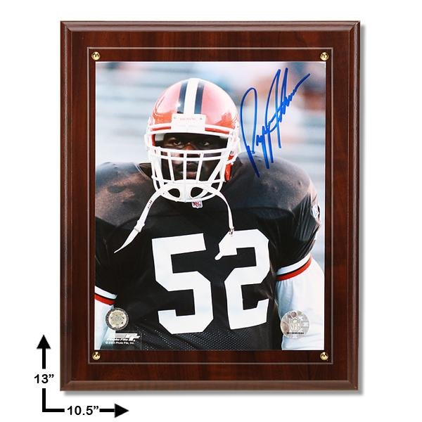 Pepper Johnson Cleveland Browns Signed Plaque GFA