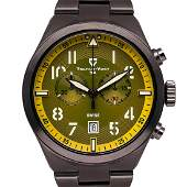 TschuyVogt  Mens Swiss Vintage Style Chronograph