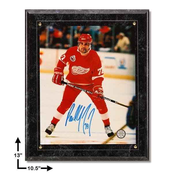 Paul Coffey Detroit Red Wings Signed Marbel Plaque