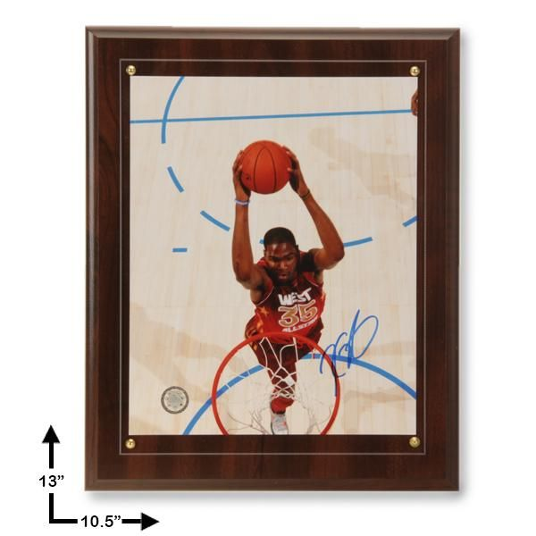 Kevin Durant All-Star West Signed 8x10 Plaque