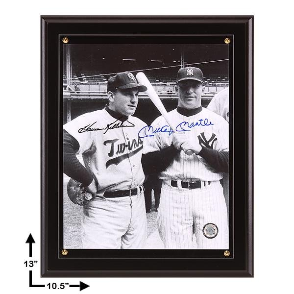 Killebrew & Mantle Signed 8x10 Plaque GFA