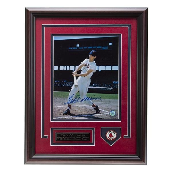 Ted Williams Boston Red Sox 12x16 Signed 8x10v GFA