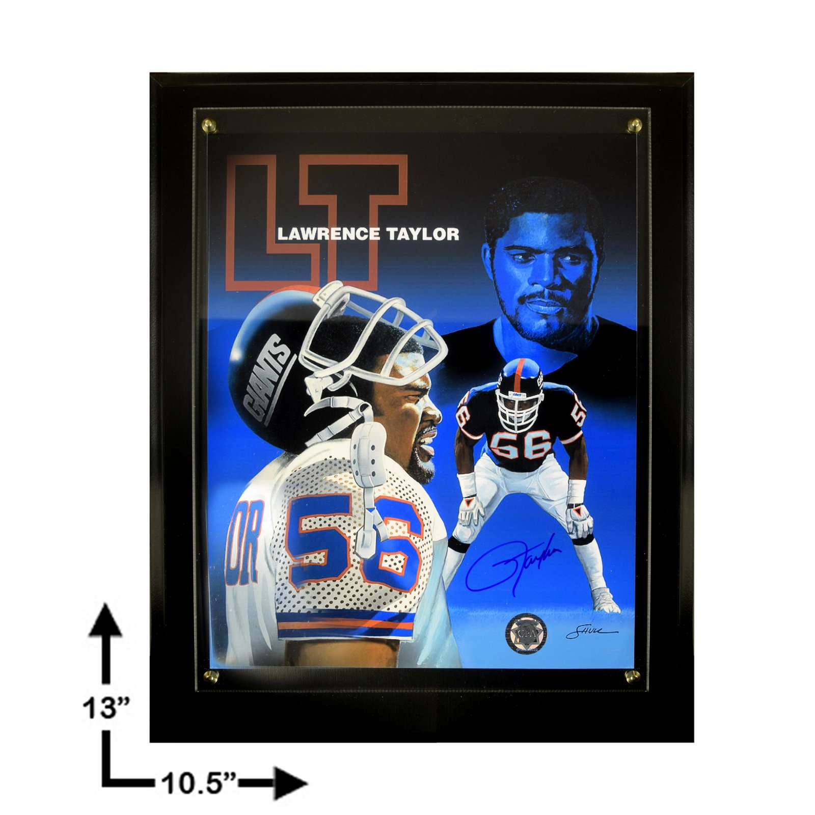 Lawrence Taylor New York Giants Signed 8x10 Plaque